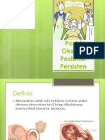 Posisi Oksiput Posterior Persisten