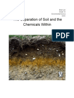 The Separation of Soil and the Chemicals Within