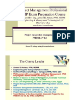 Ahmed El Antary - PMP Part 4 - Integration 4th Ed - General
