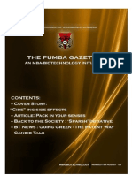 The PUMBA Gazette (August Edition)