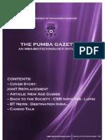 The PUMBA Gazette (September Edition)