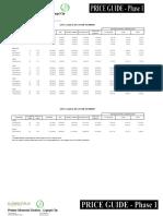 2009 Proposed Pricelist-legazpi Phase 2 & 3