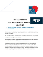 Cnn Multichoice African Journalist Awards 2014 Launched
