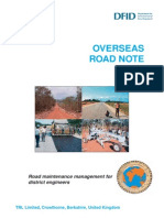 Road Note 1 - Road Maintenance Management for District Engineers