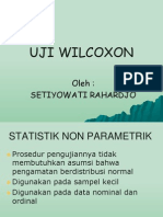 Uji Wilcoxon