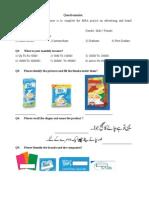 Questionnaire MKT 619