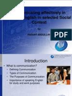 comunicating effectiveley