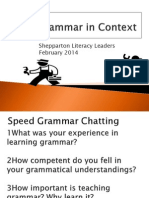 Shepparton Grammar PPT