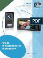 Interphone Video 2 Fils Extel Modele Iron