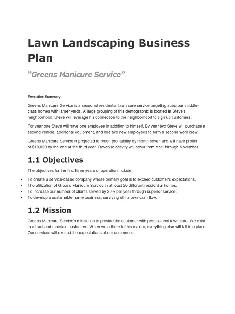 - Lawn Landscaping Business Plan Value Added Tax Balance Sheet