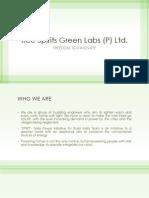 Free Spirits Green Labs (P) Ltd. - Presentation