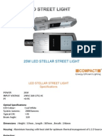 Buy 25W LED Stellar Street Lights from Compact Lighting Manufacturer