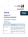 ACCA P3 Tuition Mock June 2012 - ANSWERS Version 4 FINAL at 2nd April 2012