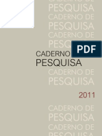 Caderno de Pesquisa 2011