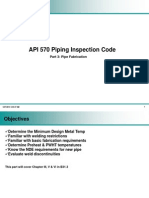 API 570 Part 3 - Pipe Fabrication