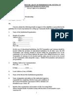 Community Radio Application Form (India)