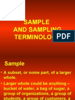 Sample and Sampling Terminology