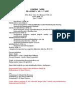 Format Paper Praktikum Kualitatif