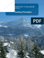 Guiding Principles of a college in Switzerland about John Corlette, educator