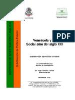 Venezuela y Su Socialismo Del Siglo XXI