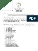 Ejercicio de Catalogación y Archivo, 5to. p.c.