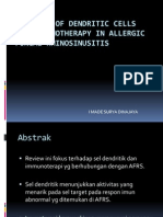 The Role of Dendritic Cells and Immunotherapy In