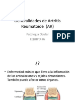 Generalidades de Artritis Reumatoide (AR)