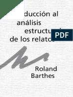 Roland Barthes - Introducción Al Análisis Estructural de Los Relatos