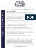 Private Sector Principles for Achieving a Balanced Budget