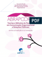 Teorias e Métodos de Pesquisa Em Comunicação Organizacional e Relações Públicas