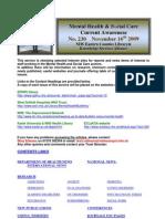 Mental Health Bulletin No 230 November 16th 2009