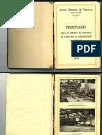 1929 Prontuario viguetas metalicas Altos Hornos de Vizcaya
