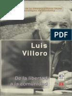 De La Libertad a La Comunidad. Luis Villoro