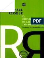 Paul Ricoeur El Conflicto de Las Interpretaciones
