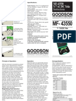 Goodson Magnaflux Y7 Manual
