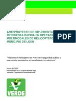 Proyecto de mejoramiento de la Unidad Aérea Halcón del municipio de León-PVEM-