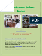 Online Grammar Quizzes Section