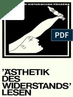 GÖTZE, Karl Und SCHERPE, Klaus_Die Aesthetik Des Widerstands Lesen
