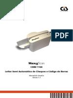 Manual MaxyScan CMM 1160 (v1.3)