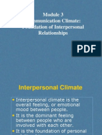 Module 3 Communication Climate