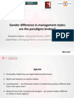 Gender difference in management styles