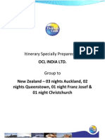 NZ Itinerary
