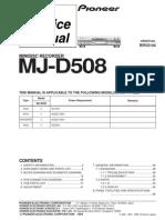 Pioneer MJD508 Minidisk