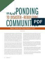 Responding to Disaster Rebuilding Communities_Spring 2014