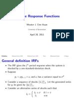 Impulse response function
