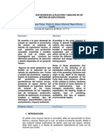 Parxmetros Que Inciden en La Eleccixn y Anxlisis de Un Mxtodo de Explotacixn