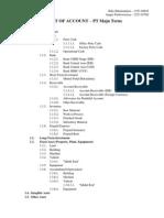 Chart of Account (CoA) - Tugas Sistem Informasi Akuntansi (SIA)