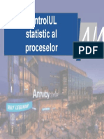 Statistical control of proceses