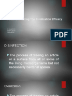 Factors Affecting the Efficacy of Disinfection and Sterilization