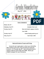 fourth grade newsletter 5-23